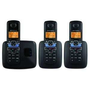 Motorola DECT 6.0 Cordless Phone with 3 Headsets and Digital Answering System with Mobile Bluetooth Linking MOTO L703BT