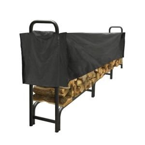 Pleasant Hearth 12 ft. Heavy Duty Firewood Rack with Half Cover LS938 144SC