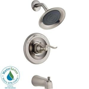 Delta Windemere Single Handle Tub and Shower Faucet in Brushed Nickel 144996 BN