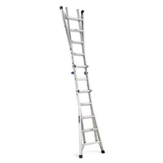 Werner 22 ft. Aluminum Telescoping Multi position Ladder 300 lb. Load Capacity Type IA Duty Rating MT 22
