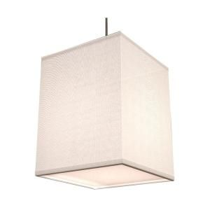 Aspects Baker 1 Light 96 in. White Shade Hanging Pendant BKP118SNSCT WH