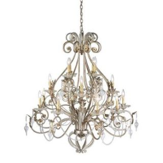 Hampton Bay Allure 16 Light Antique Silver Chandelier 14586 026