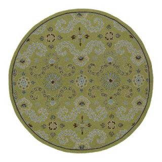 Kaleen Home & Porch Isle of Hope Celery 7 ft. 9 in. Round Area Rug 2017 33 7.9rnd