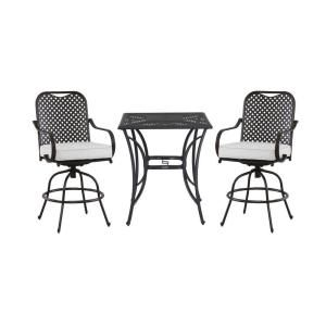 Hampton Bay Fall River 3 Piece Patio High Bistro Set with Bare Cushion DY11034 HD B