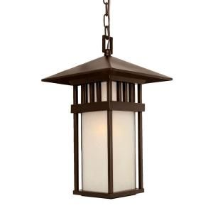 Acclaim Lighting Bali Collection Hanging Lantern 1 Light Outdoor Architectural Bronze Light Fixture 9626ABZ