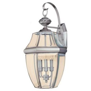 Sea Gull Lighting Lancaster 3 Light Outdoor Antique Brushed Nickel Wall Fixture 8040 965