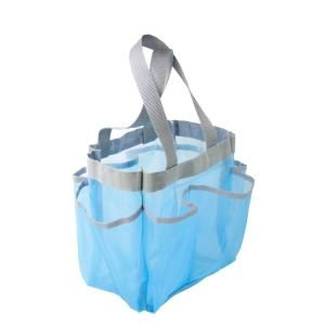 Honey Can Do Blue 6 Pocket Shower Tote SFT 01103