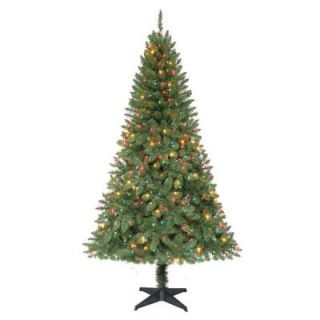 Home Accents Holiday 6.5 ft. Pre Lit Verde Pine Christmas Tree with Multi Color Lights COPT718400MT