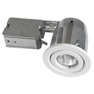 BAZZ 300 Series 4 in. White Halogen Recessed Lighting Kit 300 130