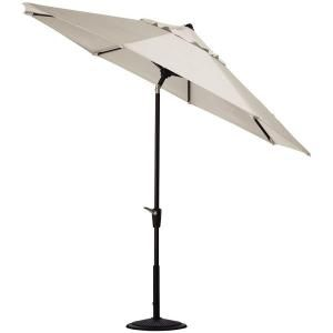 Home Decorators Collection 6 ft. Auto Tilt Patio Umbrella in Canvas Sunbrella with Black Frame 1548730400