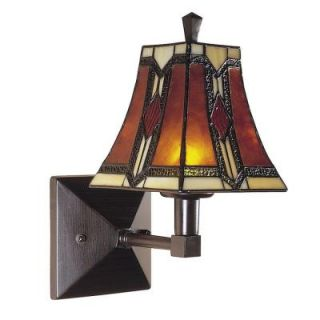 Dale Tiffany 1 Light Bronze/Copper Kenelm Mica Wall Sconce TW100852