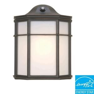 Hampton Bay 1 Light Outdoor Oil Rubbed Bronze Dusk to Dawn Lantern BPN1691P