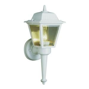 Filament Design Cabernet Collection 1 Light Outdoor Black Gold Coach Lantern with Clear Beveled Shade CLI WUP210690