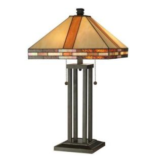 Dale Tiffany Mission 24.5 in Antique Bronze Table Lamp STT11005