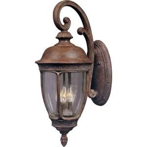 Filament Design Infinite Wall Mount 3 Light Outdoor Bronze Incandescent Lantern HD MA42433238