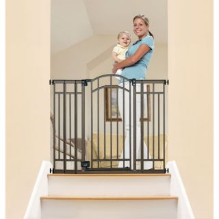 Summer Infant Extra Tall Decorative Walk Thru Metal Baby Stair Gate