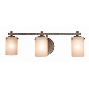 Hampton Bay 3 Light Iron Oxide Bath Light 25001