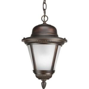 Progress Lighting Westport Collection 1 Light Antique Bronze Hanging Lantern P5530 20WB