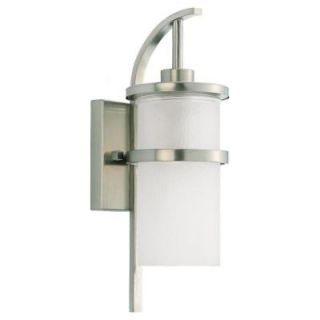 Sea Gull Lighting Eternity 1 Light Outdoor Brushed Nickel Wall Fixture 88117 962