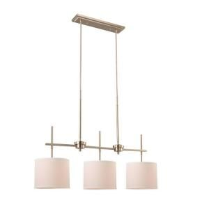 Hampton Bay Remington Collection 3 Light Brushed Nickel Island Pendant HEF7393A