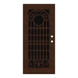 Unique Home Designs Spaniard 36 in. x 80 in. Copperclad Left Hand Surface Mount Aluminum Security Door with Insect Screen 1S2029EL2CCISA