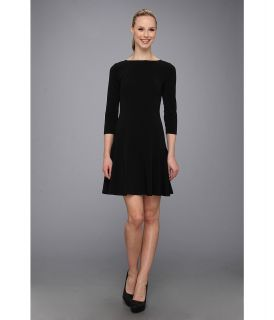 Nine West Long Sleeve Drop Waist Dress Womens Dress (Black)