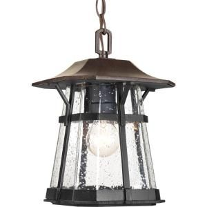 Progress Lighting Derby Collection 1 Light Outdoor Espresso Hanging Lantern P5579 84
