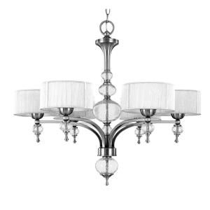 World Imports Bayonne Collection 6 Light Brushed Nickel Chandelier WI824637