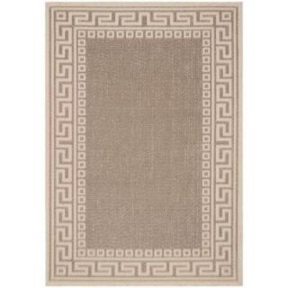 Direct Home Textiles Greek Key Natural/Brown 7 ft. 10 in. x 10 ft. 6 in. Indoor/Outdoor Rug DISCONTINUED 6777 94126 147