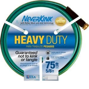 Neverkink 5/8 in. x 75 ft. Heavy Duty Water Hose 8605 75