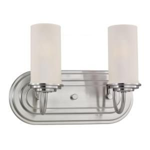 Sea Gull Lighting Wellington 2 Light Brushed Nickel Vanity Fixture 44656 962
