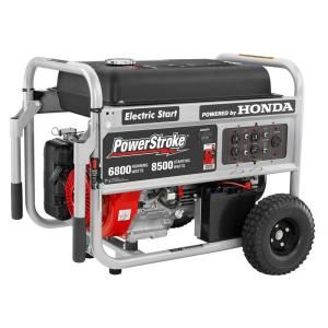 PowerStroke 6,800 Watt Generator Electric Start with Honda GX390 Engine PS906800P H