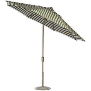 Home Decorators Collection 11 ft. Auto Tilt Patio Umbrella in Maxim Cilantro Sunbrella with Champagne Frame 1549720630