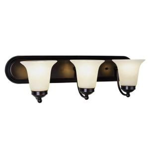Filament Design Cabernet Collection 3 Light Polished Chrome Bath Bar with White Marbleized Shade CLI WUP202237