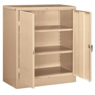 Salsbury Industries 9000 Series 42 in. H x 18 in. D Counter Height Storage Cabinet Unassembled in Tan 9048TAN U