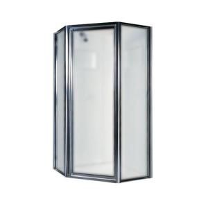 Swanstone 36 in. Neo Angle Shower Door with Obscure Glass SD00036OB.081