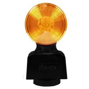Blazer International Warning Light 8 3/8 in LED Battery Operated Warning Lamp Amber with Magnetic Mount C42A