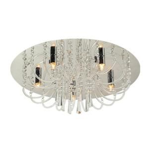 BAZZ Glam Collection 5 Light Chrome Round Ceiling Fixture with Decorative Crystal Beads C00154G