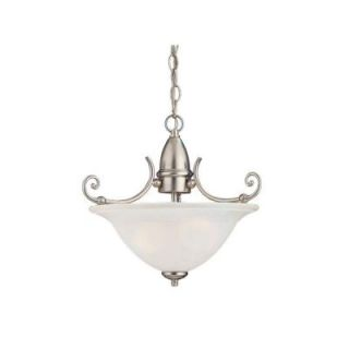 Sea Gull Lighting Canterbury 2 Light Brushed Nickel Semi Flush Fixture 51050 962