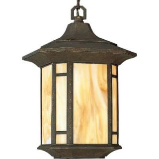 Progress Lighting Arts and Crafts Collection Outdoor Hanging Weathered Bronze Lantern P5528 46