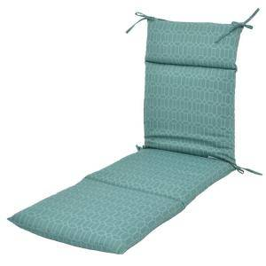 Hampton Bay Rhodes Trellis Outdoor Chaise Lounge Cushion 7407 01220000