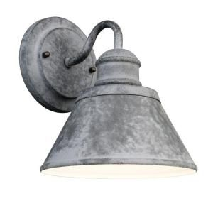 Hampton Bay 1 Light Outdoor Zinc Wall Lantern HSP1691A