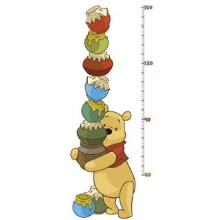RoomMates 5 in. x 19 in. Winnie the Pooh   Pooh and Friends Peel and Stick Metric Growth Chart Wall Decals INT1501GC