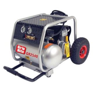 Grip Rite 4 Gal. Portable Single Tank Wheeled Compressor DISCONTINUED GR2540