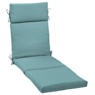 Hampton Bay Turquoise Solid Outdoor Chaise Lounge Cushion DISCONTINUED WC06853X 9D1