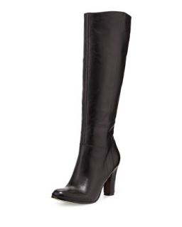 Serephin Leather Knee Boot, Black
