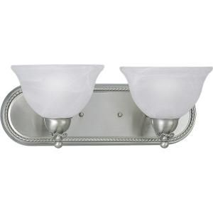 Progress Lighting Avalon Collection Brushed Nickel 2 light Vanity Fixture P3267 09
