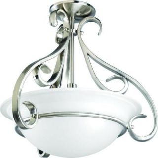Progress Lighting Torino Collection 3 Light Brushed Nickel Semi Flush Mount P3843 09