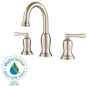 Pfister Lindosa 8 in. Widespread 2 Handle High Arc Bathroom Faucet in Brushed Nickel F 049 LDKK
