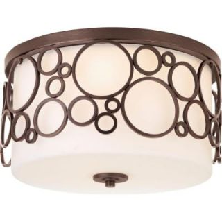 Progress Lighting Bingo Collection 3 Light Venetian Bronze Flush Mount P3752 74